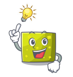 Have an idea square mascot cartoon style vector