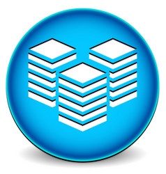 Icon with towers webhosting or building layers vector