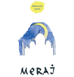 Islamic religious holiday abstract for meraj vector