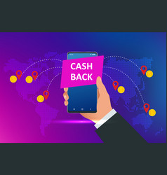 Isometric cashback and saving money concept money vector