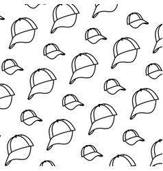 line cap casual textile accessory background vector image