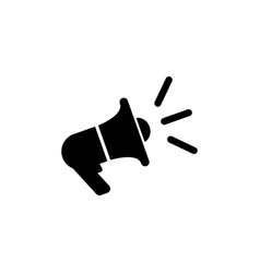 loudspeaker megaphone flat icon vector image