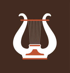 lure flat icon folk music instrument vector image