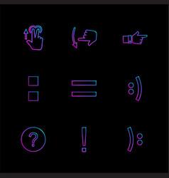 Maths emoji equals hands pointer arrows vector