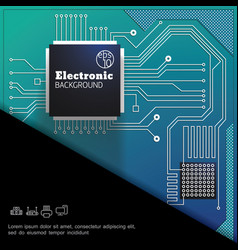 modern electronic colorful digital template vector image