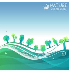 Nature geometric background vector image