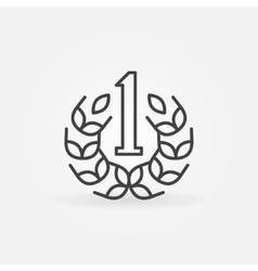 Number One line icon vector