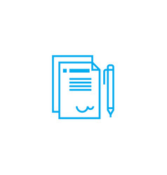 official letter linear icon concept official vector image