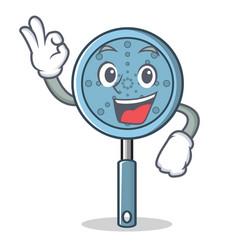 Okay skimmer utensil character cartoon vector