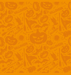 orange halloween background vector image