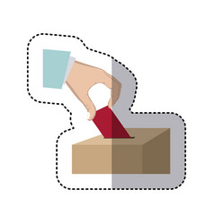 people vote icon image vector image