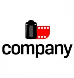 photo film logo vector image