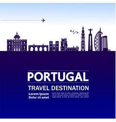 portugal travel destination vector image