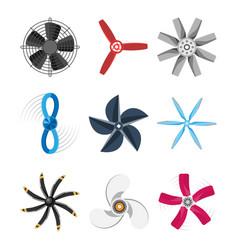 propeller fan fan propeller vector image