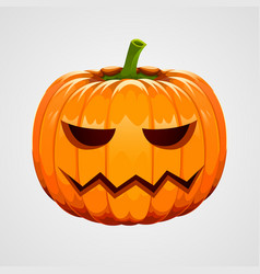 pumpkin for halloween on white background vector image
