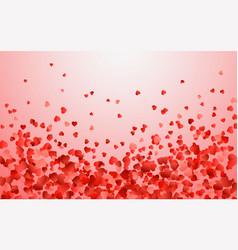 realistic isolated heart confetti vector image