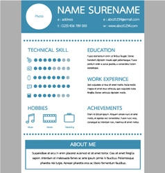 resume template for worker vector image
