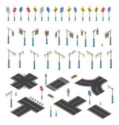 Road streetlight traffic vector