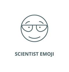 scientist emoji line icon linear concept vector image