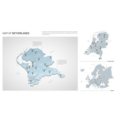 Set netherlands country isometric 3d map vector
