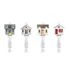 set of small house keys vector image
