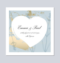 set of trendy romantic elegant pastel blue gold vector image