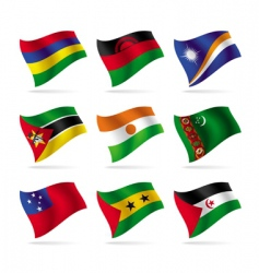 Set of world flags 13 vector