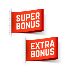 super and extra bonus labels vector image