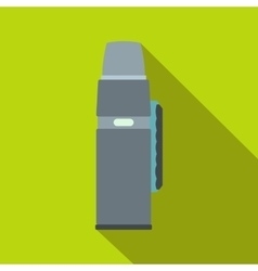 Thermos flask flat icon vector