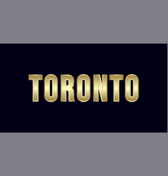 toronto city typography design greetings for vector image