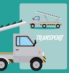 Truck stairs transport vehicle vector