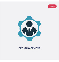 two color seo management icon from programming vector image