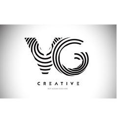 Vg lines warp logo design letter icon made vector