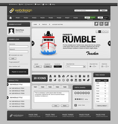 Web design element template a complete set of web vector