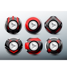 Web red buttons vector