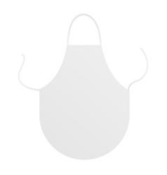 White blank kitchen apron vector