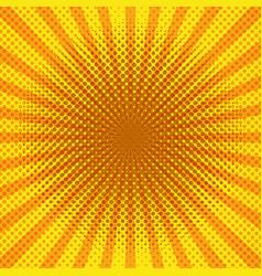 Yellow color sunburst pop art background vector