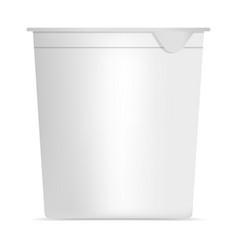 yogurt box mockup realistic style vector image