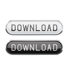 download glass button oval black and white buttons vector image