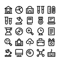 education line icons 2 vector image vector image