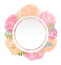flower banner peony vector image