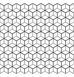 Heaxgon seamless pattern doubled network of thin vector
