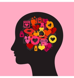 Love head2 vector image