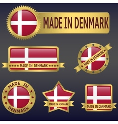 made in Denmark vector image vector image