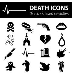 Death icons vector