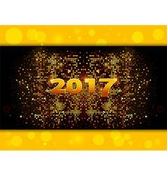 Twenty Seventeen sparkling gold mosaic vector image vector image
