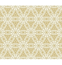 Lace fabric seamless pattern with flowers vector image