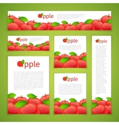Set of Apple Banners vector image
