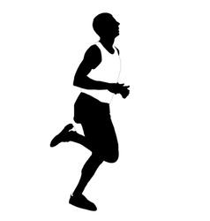 silhouette running men vector image vector image