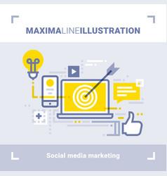 social media marketing and social networks vector image